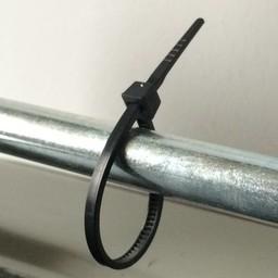 Cable-ties 160x2.5 zwart  100st