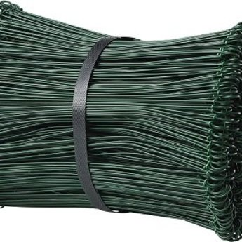 Drilbinders groen 100mm geplastificeerd kleur groen dikte 1,4mm bundel met 5000st