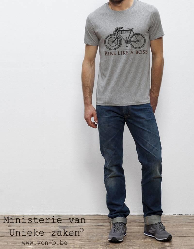 Bike like a boss Heather grey