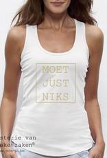 Departement Krijg de Kleren Moet Just Niks - Tank Top wit-goud