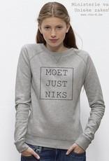 Departement Krijg de Kleren Moet Just Niks Sweater Vrouwen grijs