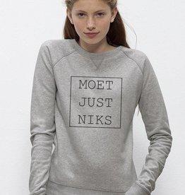 Departement Krijg de Kleren Moet Just Niks Sweater (V) grijs