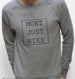 Departement Krijg de Kleren Moet Just Niks Sweater (Man) grijs
