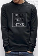 Departement Krijg de Kleren Moet Just Niks Sweater (Man) - zwart