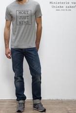 Departement Krijg de Kleren Moet Just Niks T-shirt Man - grijs kader