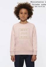Departement Krijg de Kleren Moet Just Niks Sweater Kids Roze