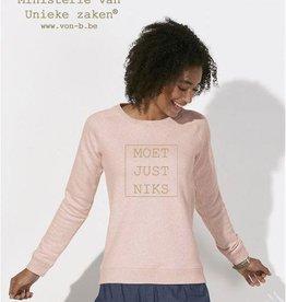 Departement Krijg de Kleren Moet Just Niks Sweater (V) - Rose