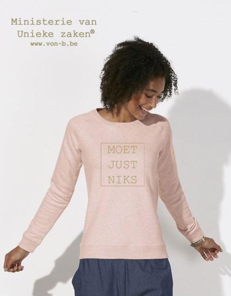 Departement Krijg de Kleren Moet Just Niks Sweater Vrouwen - Rose