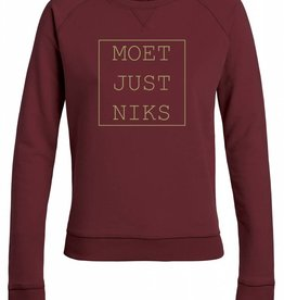 Departement Krijg de Kleren Moet Just Niks Sweater (V) - Bordeau