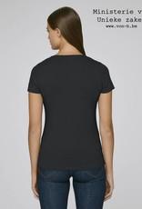 Departement Krijg de Kleren Moet Just Niks - t-shirt zwart/goud V-hals