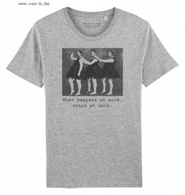 Departement Krijg de Kleren What Happens at Work TS M - Heather Grey