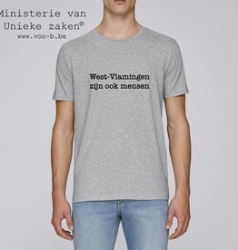 Departement Krijg de Kleren Westvlamingen T-shirt Man Heather Grey