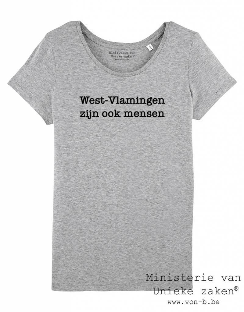 Departement Krijg de Kleren Westvlamingen T-shirt Vrouw Heather Grey