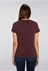 Departement Krijg de Kleren Moet Just Niks - t-shirt druif/goud V-hals