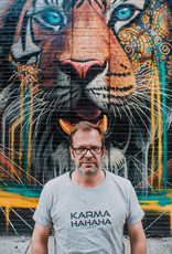 Departement Krijg de Kleren Karma HaHaHa - T-shirt man Heather Grey