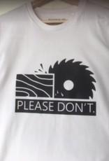 Departement Krijg de Kleren Please Don't T-shirt Man - Vintage white