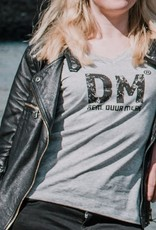 Departement Krijg de Kleren Duur Merk RDM - T-shirt vrouw V-hals Heather Grey