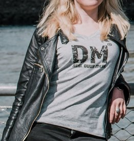 Duur Merk Duur Merk RDM - T-shirt vrouw V-hals Heather Grey