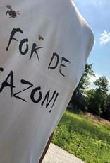 Departement Krijg de Kleren Fok de Gazon - t-shirt man Naturel