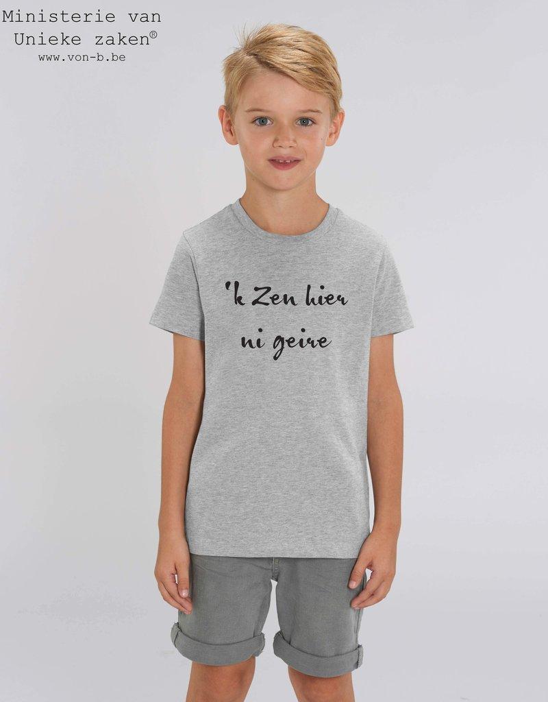 Departement Krijg de Kleren 'k Zen hier ni geire - T-shirt kids Heather Grey