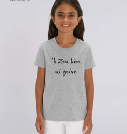 Departement Krijg de Kleren 'k Zen hier ni geire - T-shirt kids Heather Grey