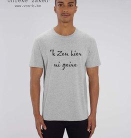 Departement Krijg de Kleren 'k Zen hier ni geire - T-shirt unisex Heather Grey