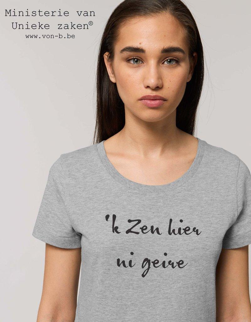 Departement Krijg de Kleren 'k Zen hier ni geire - T-shirt vrouw Heather Grey