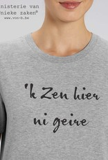 Departement Krijg de Kleren 'k Zen hier ni geire - T-shirt man Heather Grey