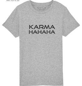 Departement Krijg de Kleren Karma HaHaHa T-shirt Kids Grijs