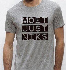 Departement Krijg de Kleren Moet Just Niks 'vet' - t-shirt grijs