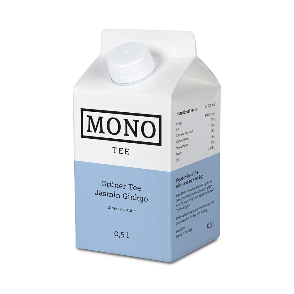 Monotee Grüner Tee Jasmin Ginko 500 ML