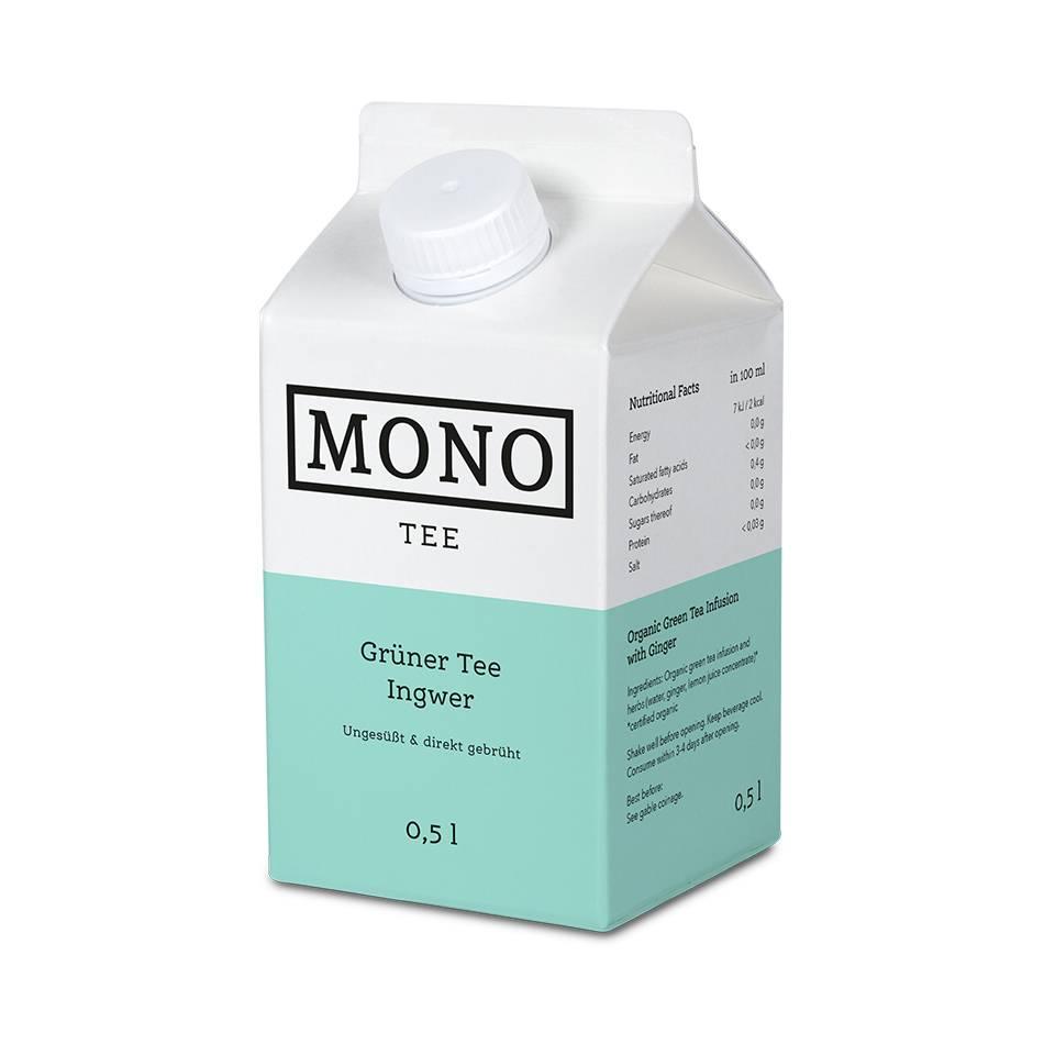 Monotee Grüner Tee Ingwer 500 ML