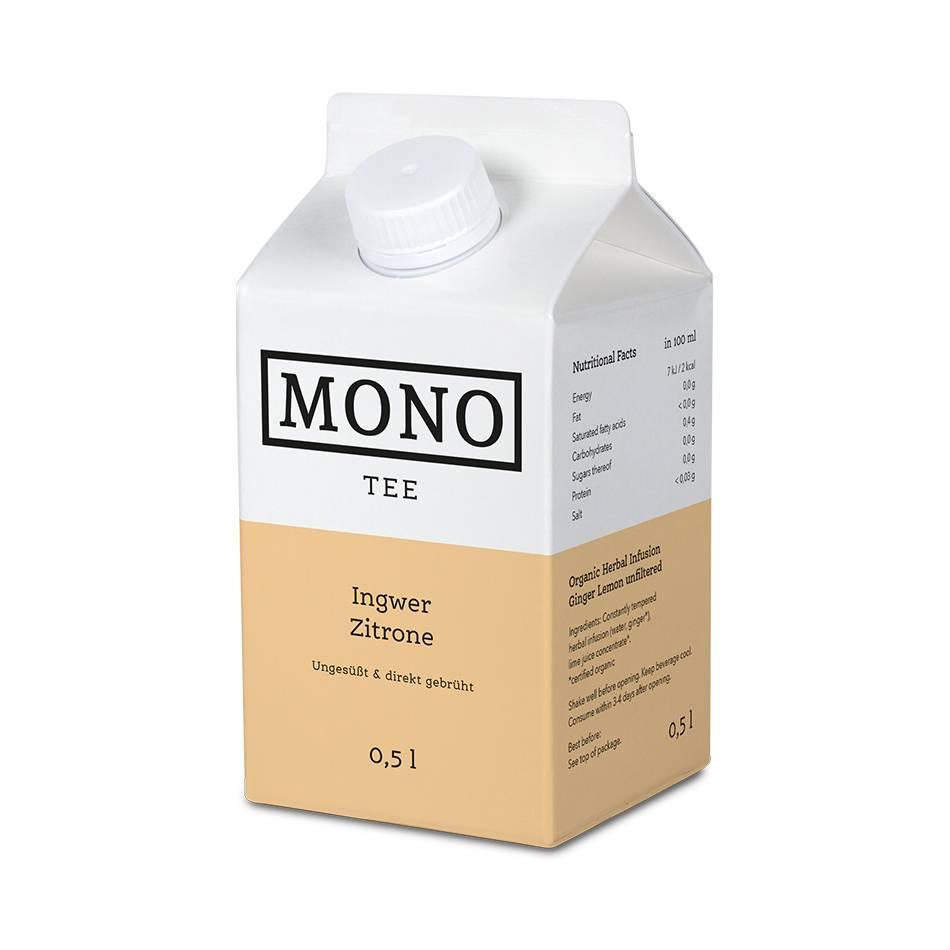 Monotee Ingwer Zitrone 500 ML