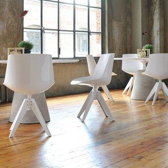 MDF Italia MDF Italia Flow Chair | Padded | VN Stahl 4-beinig