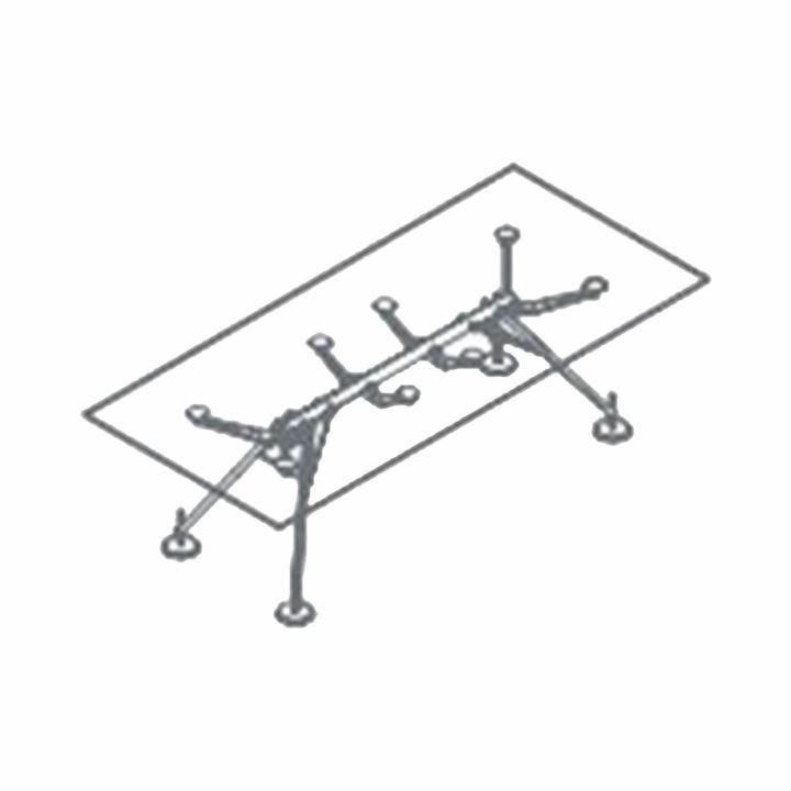 Tecno Nomos 1NM4013 | Rectangular | W 220 cm | Height adjustable