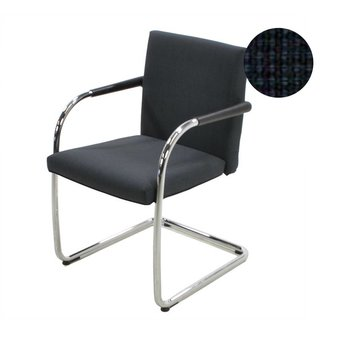 Vitra OUTLET | Vitra Visasoft | Black blue Wool Top | Chromed steel | Stackable