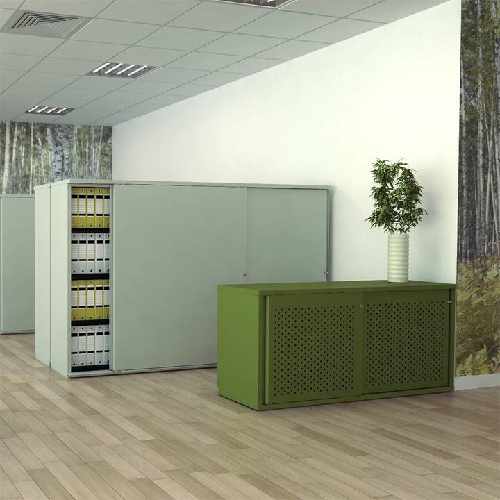 Bisley Glide II | Sliding door cupboard | W 200 cm