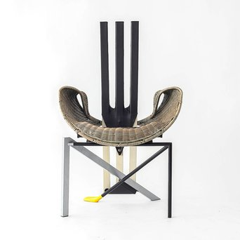 Vitra OUTLET | Vitra Documenta Chair | Brown reed