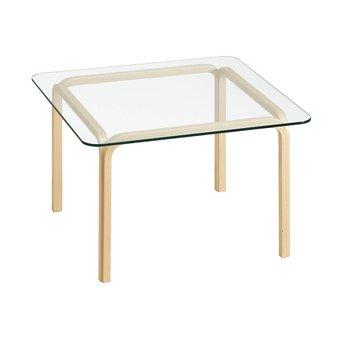 Artek OUTLET | Artek Glass Table Y805B | Braun birke naturel | Transparent glas
