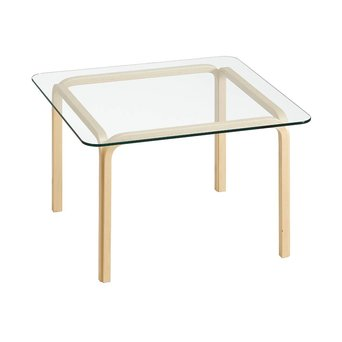 Artek OUTLET | Artek Glass Table Y805B | Bruin berken naturel | Transparant glas