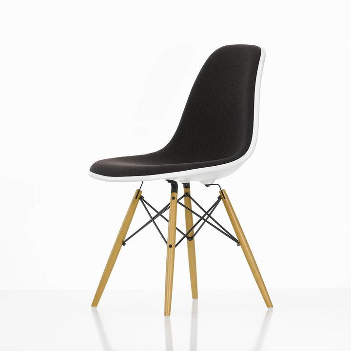 Vitra Eames Plastic Side Chair DSW | With full upholstery