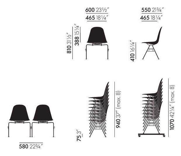 Chair Workbrands Dss Vitra Eames Plastic Side QedxrCBWo
