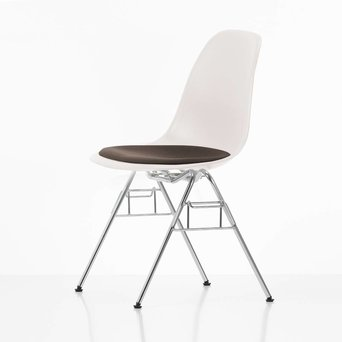 Vitra Vitra Eames Plastic Side Chair DSS | Zitting bekleed