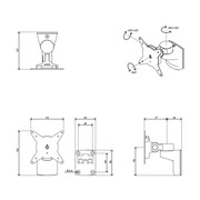 Dataflex Viewlite Monitorarm - Wand 20