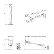 Dataflex Viewlite monitor arm - rail 42