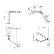 Dataflex Viewlite Dual-Monitorarm-Upgrade-Kit - Option 60