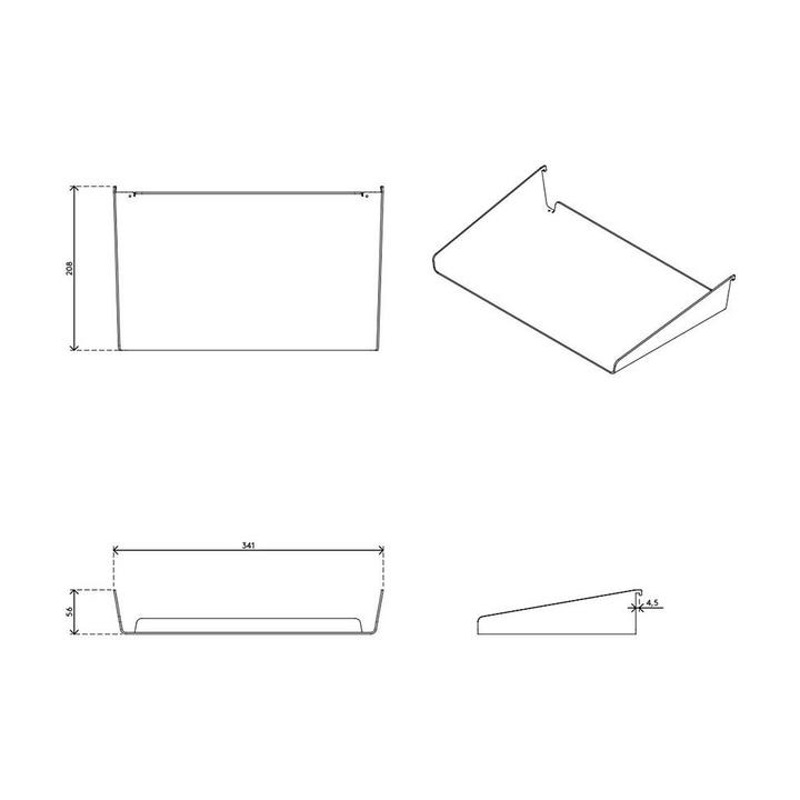 Dataflex Viewlite A4 tray - option 77