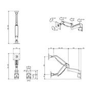 Dataflex Viewmaster monitorarm - wand 25
