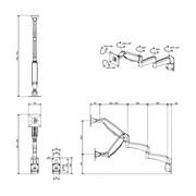 Dataflex Viewmaster monitorarm - wand 28