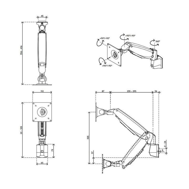 Dataflex Viewmaster monitorarm - rail 11